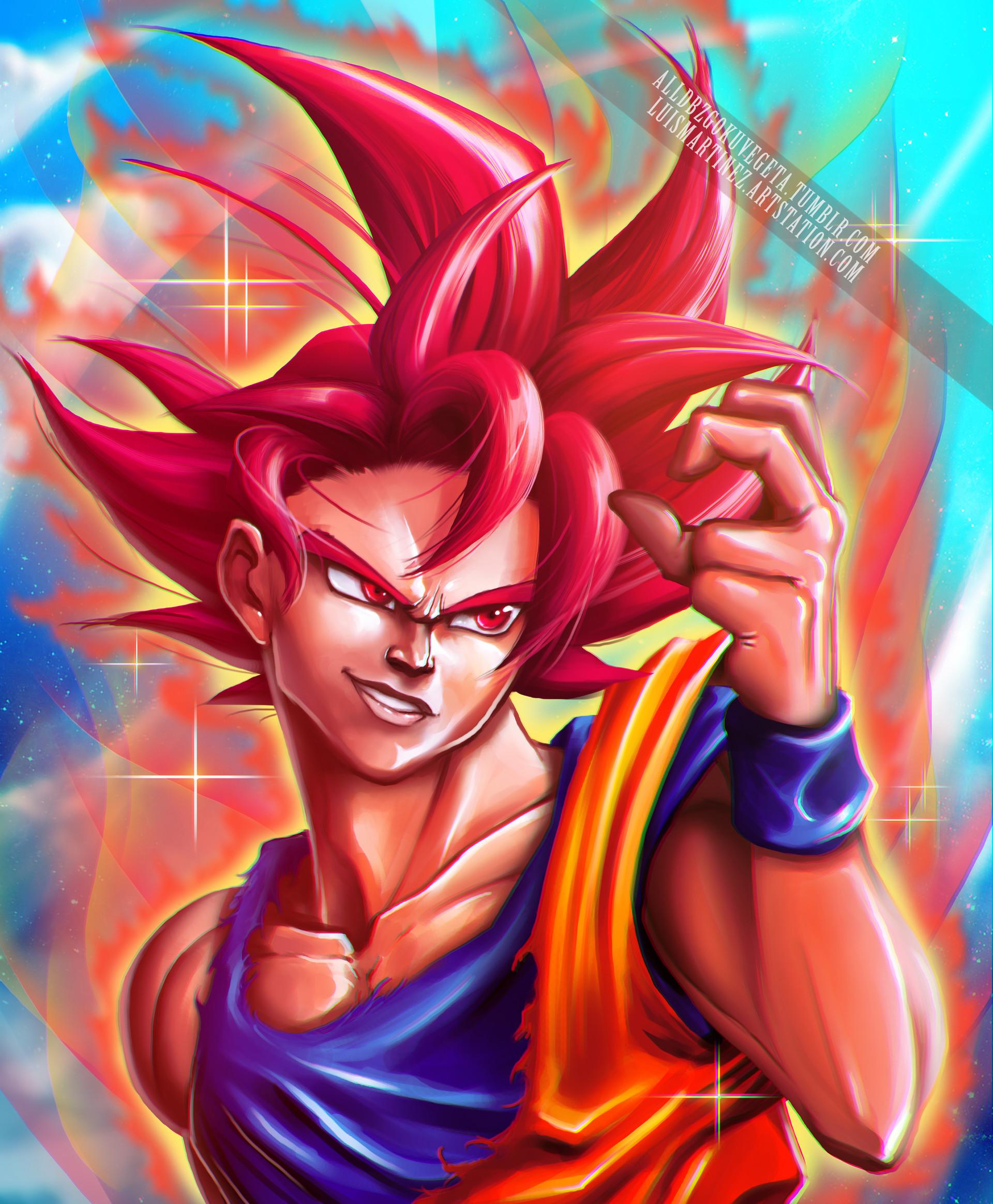 Artstation Goku Super Saiyan God Luis Martinez