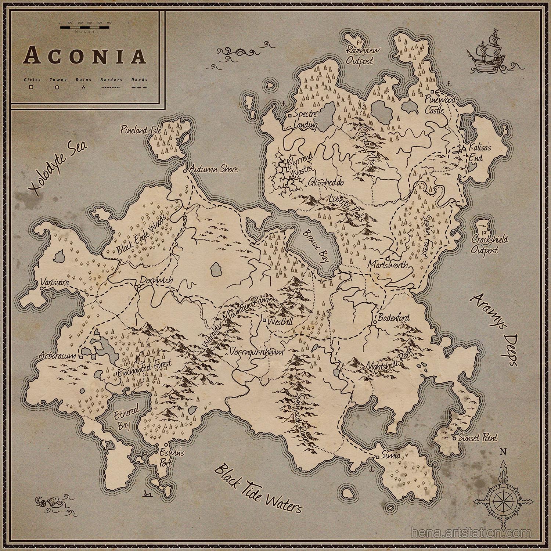 Map of Aconia