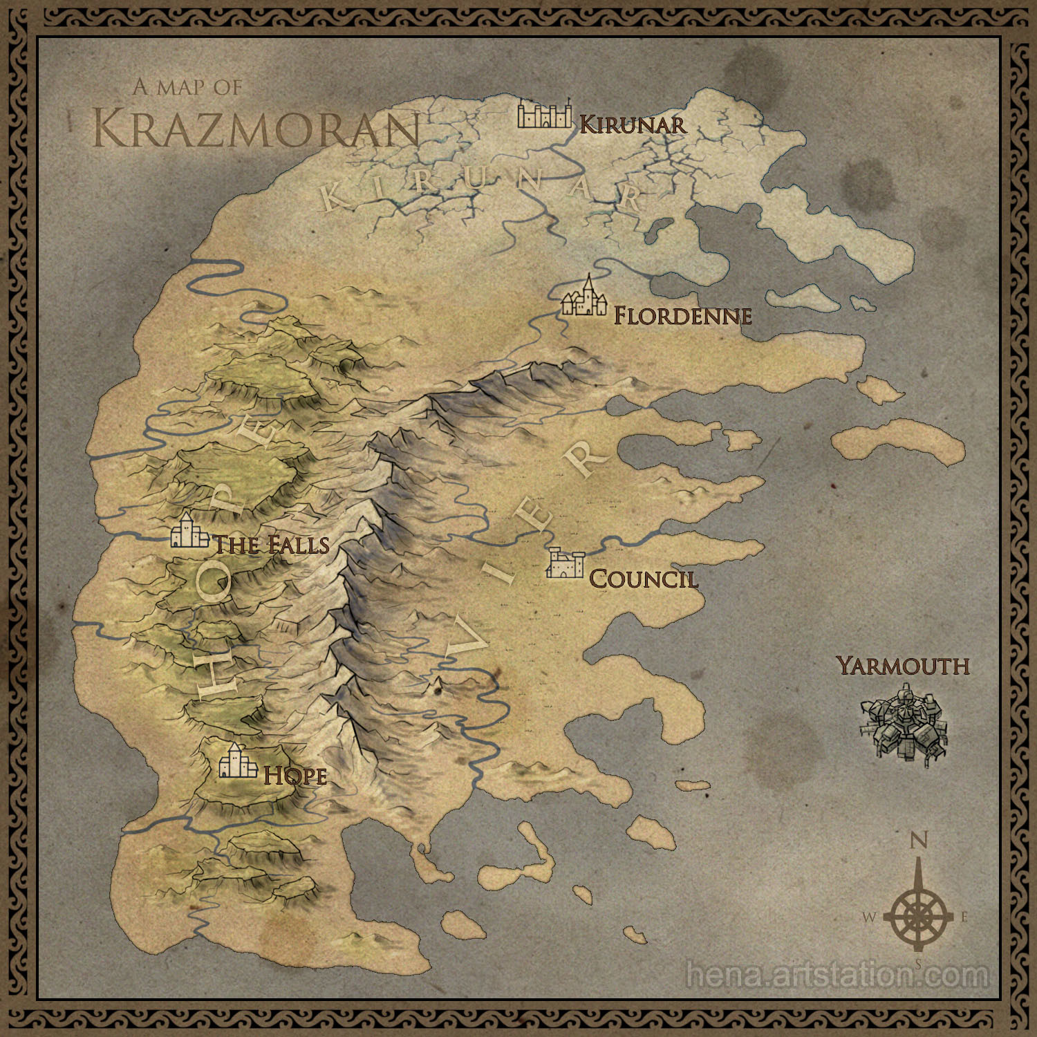 Map of Krazmoran