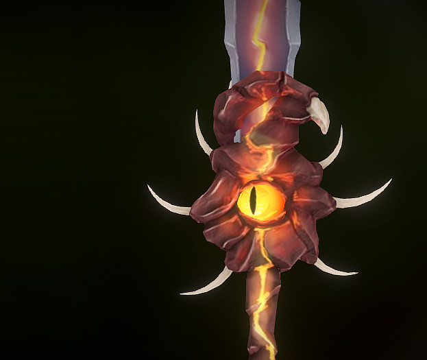Animated Sword - Handpainted texture study