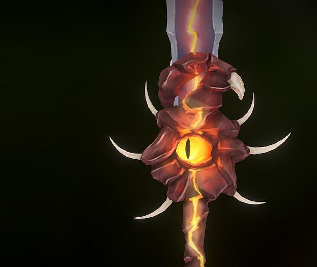 Animated Sword - Handpainted texture study