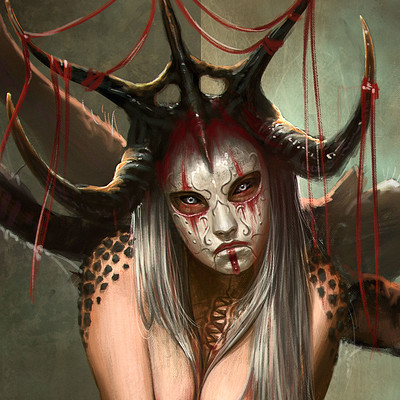 Rafael teruel 1001 nightmares beauty by rafater close up