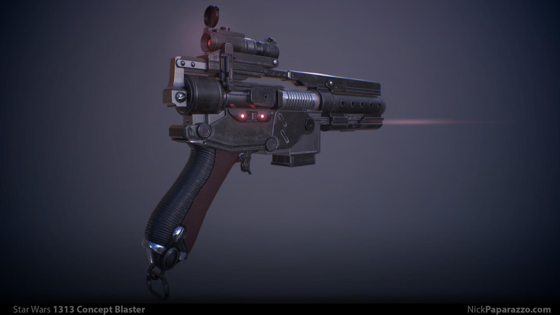 ArtStation - Star Wars 1313 Concept Blaster , Nick Paparazzo