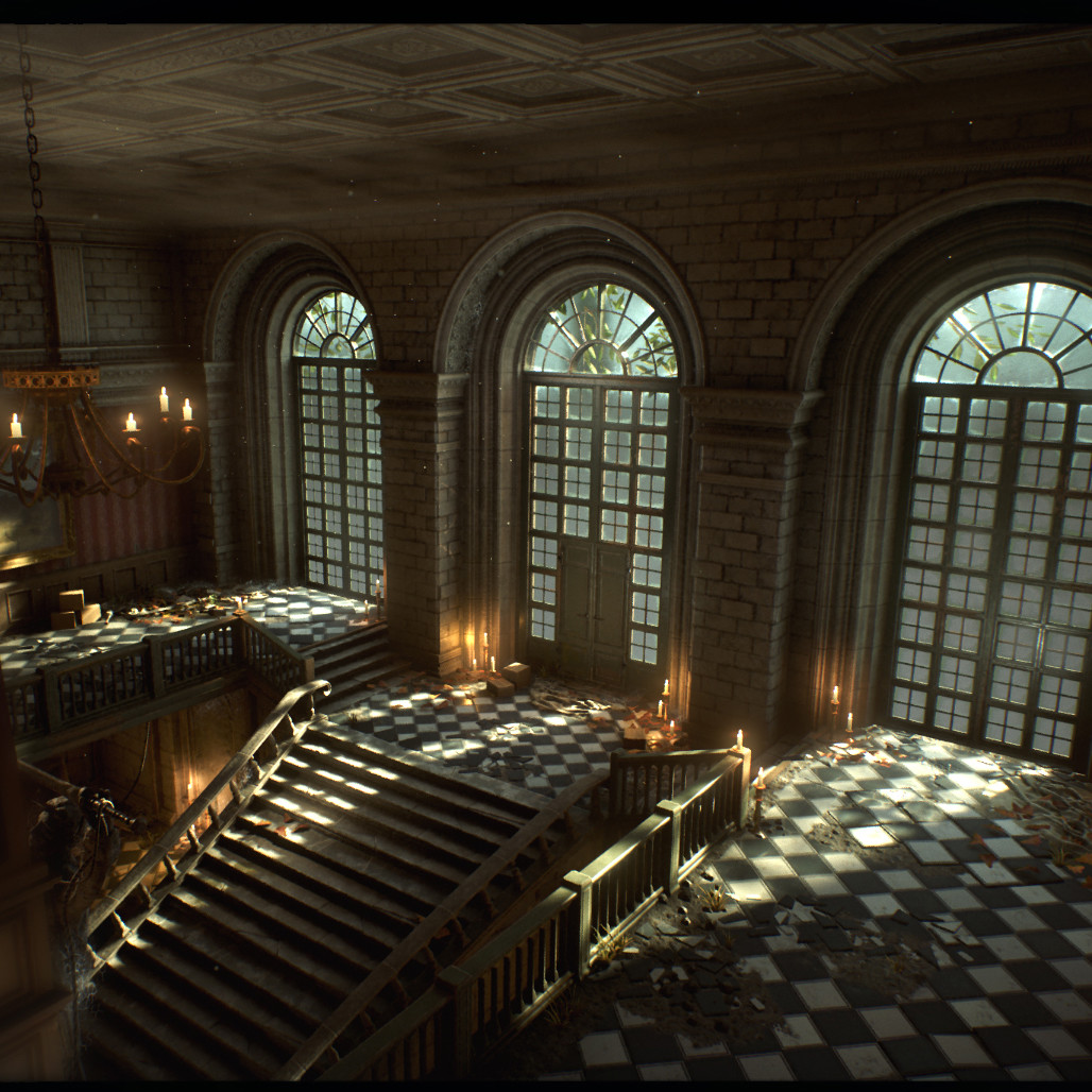 Abandoned manor UE4
