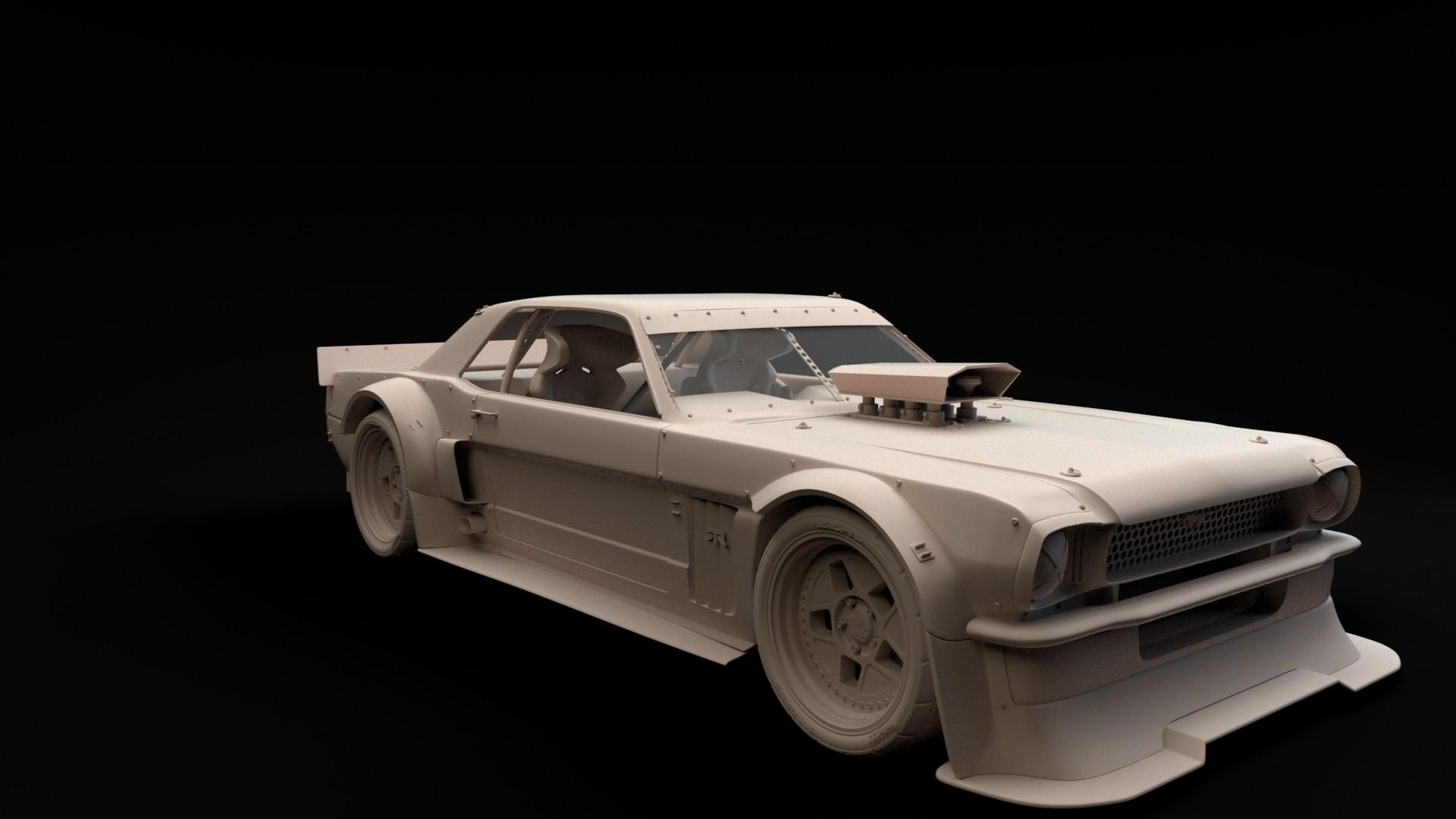 Ford mustang hoonicorn rtr 3d model turnaround