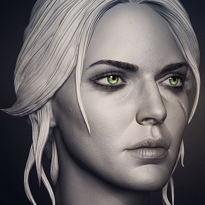 Ciri done for custom witcher series of action figures