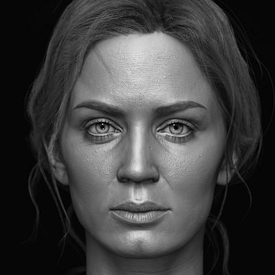 Emily Blunt 1/6 th Head Sculpt - Modern Life