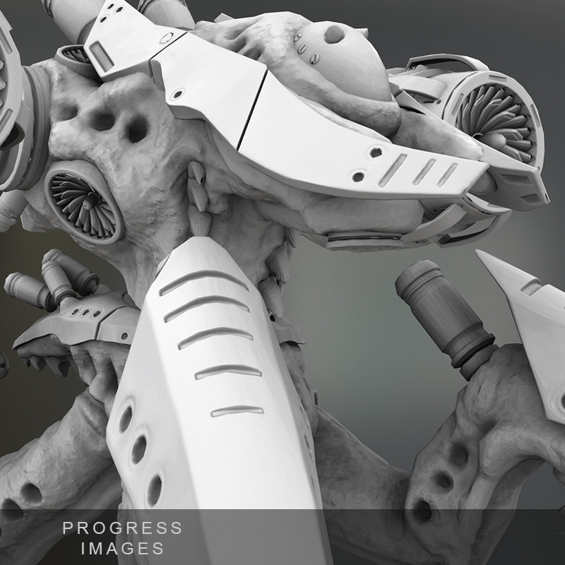 Work in progress - Zbrush Bio-Mechanical Creature