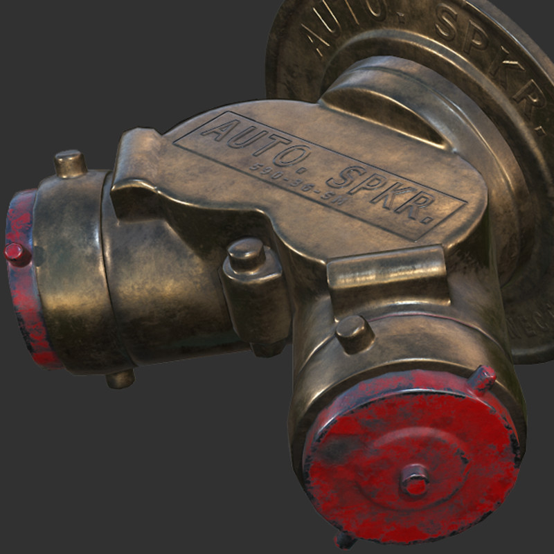 Hard Surface Study - Automatic Sprinkler Connection