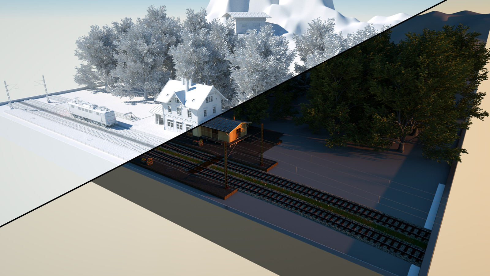 Small Railroad Scene WIP