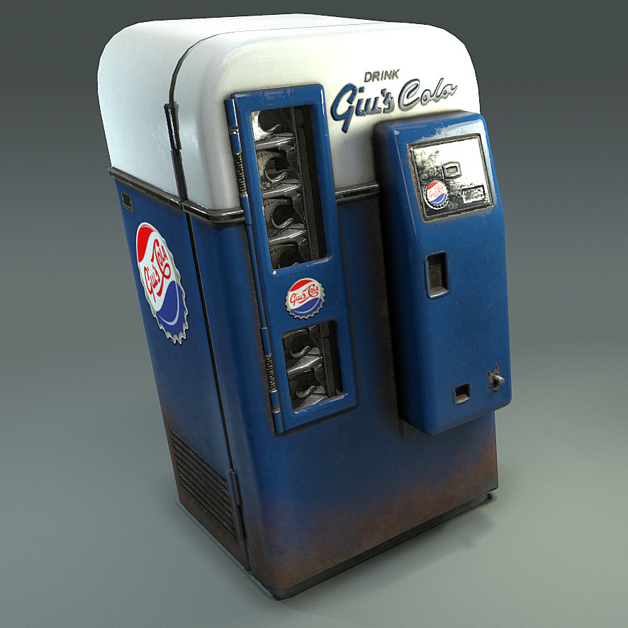 Diorama Coke Machine Asset
