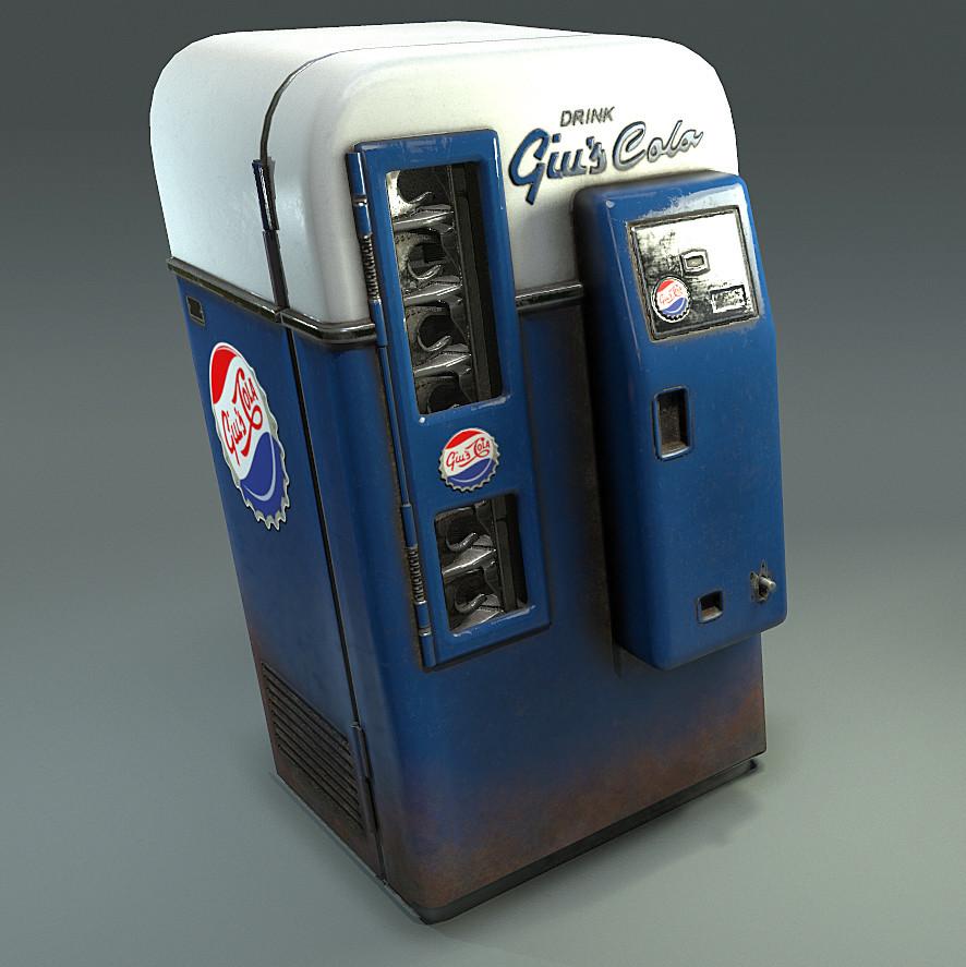 Diorama Coke Machine Asset