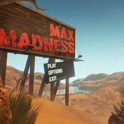 Max Madness - Unreal Start screen scene