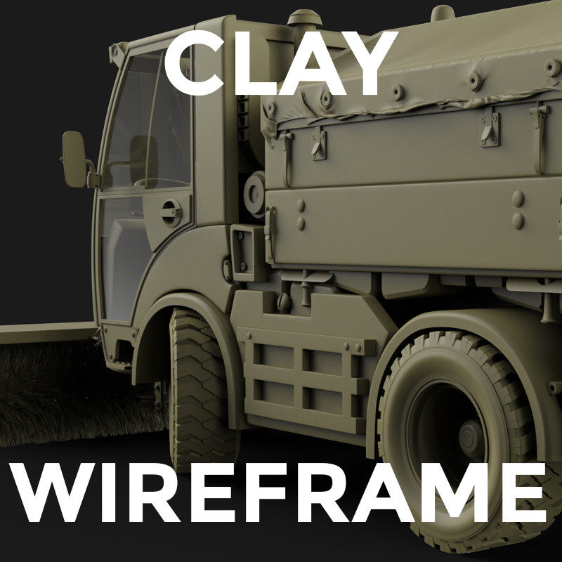 Clay and Wireframes