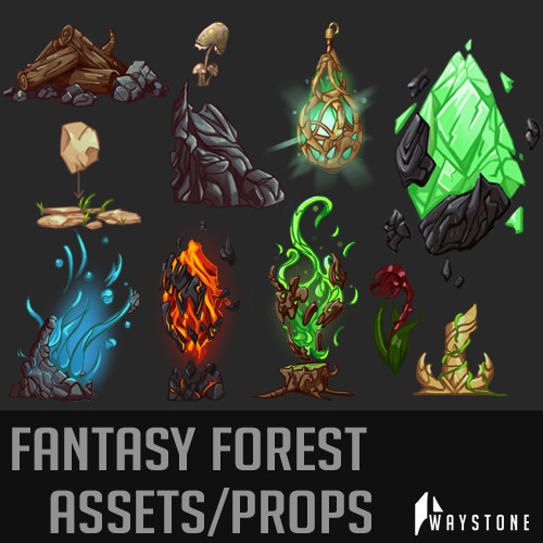 Fantasy Forest - Prop Concepts