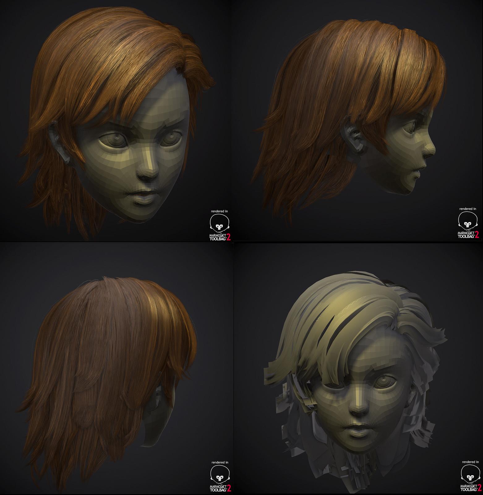 Poly Hair style - GMH2.6 Hair script demo