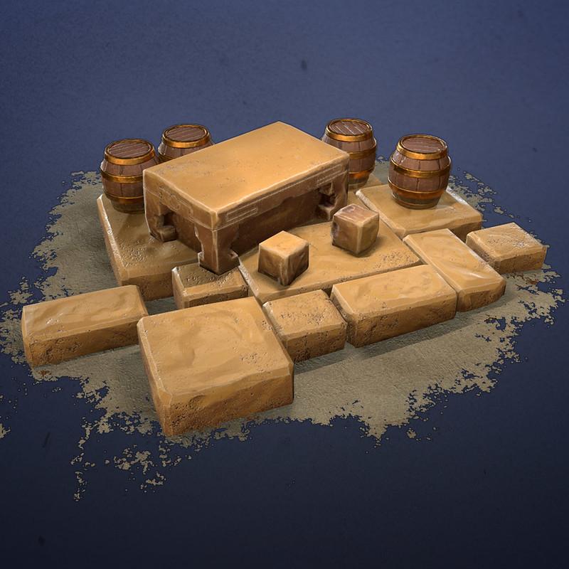 Art Test Desert Diorama