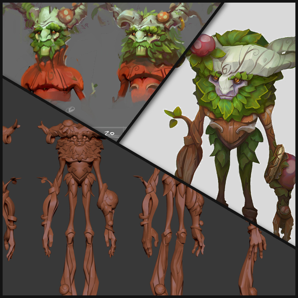 "Ivern ""The Green Father"" - High Res and Concepts - League of Legends"