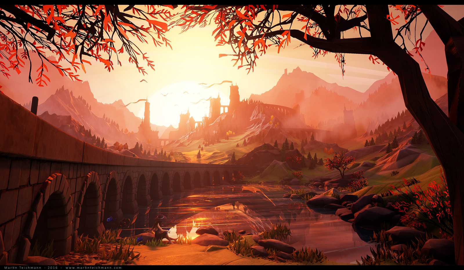 Sunrise - Stylized landscape in Unreal 4