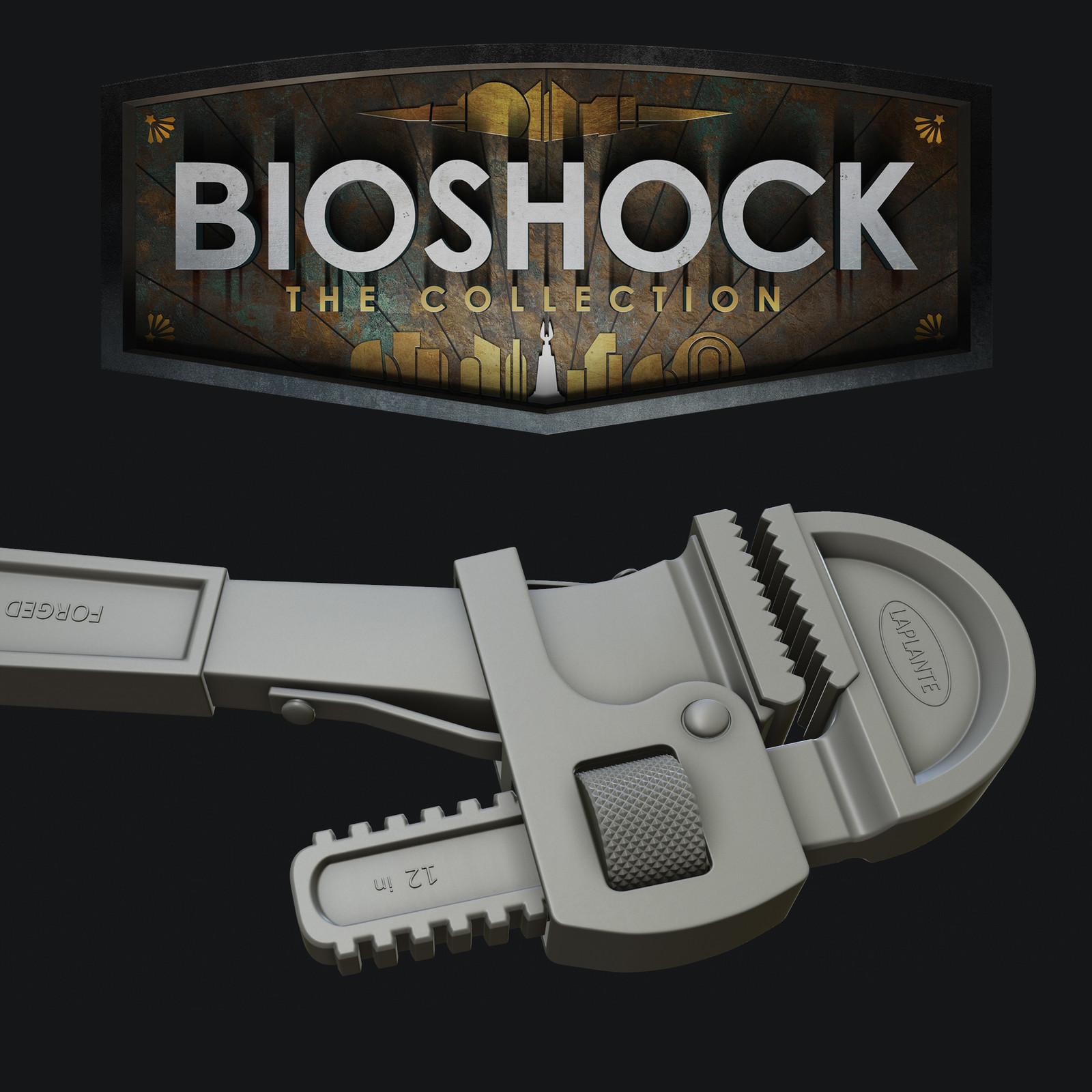 Bioshock: The Collection - Wrench High Poly
