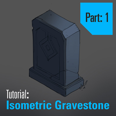 Tim kaminski tutorial isometric gravestone part 1 square