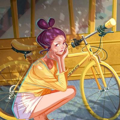 Rachel ho bicycle sketch