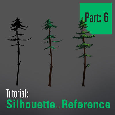 Tim kaminski tutorial trees sillhouette as reference part 6 artstation