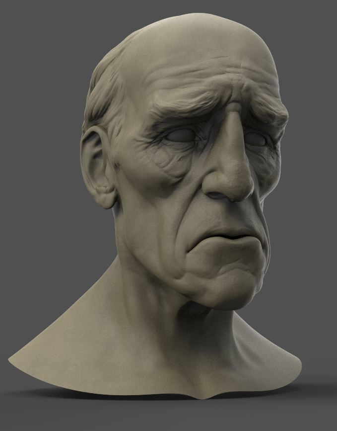 Monk Head sculpt