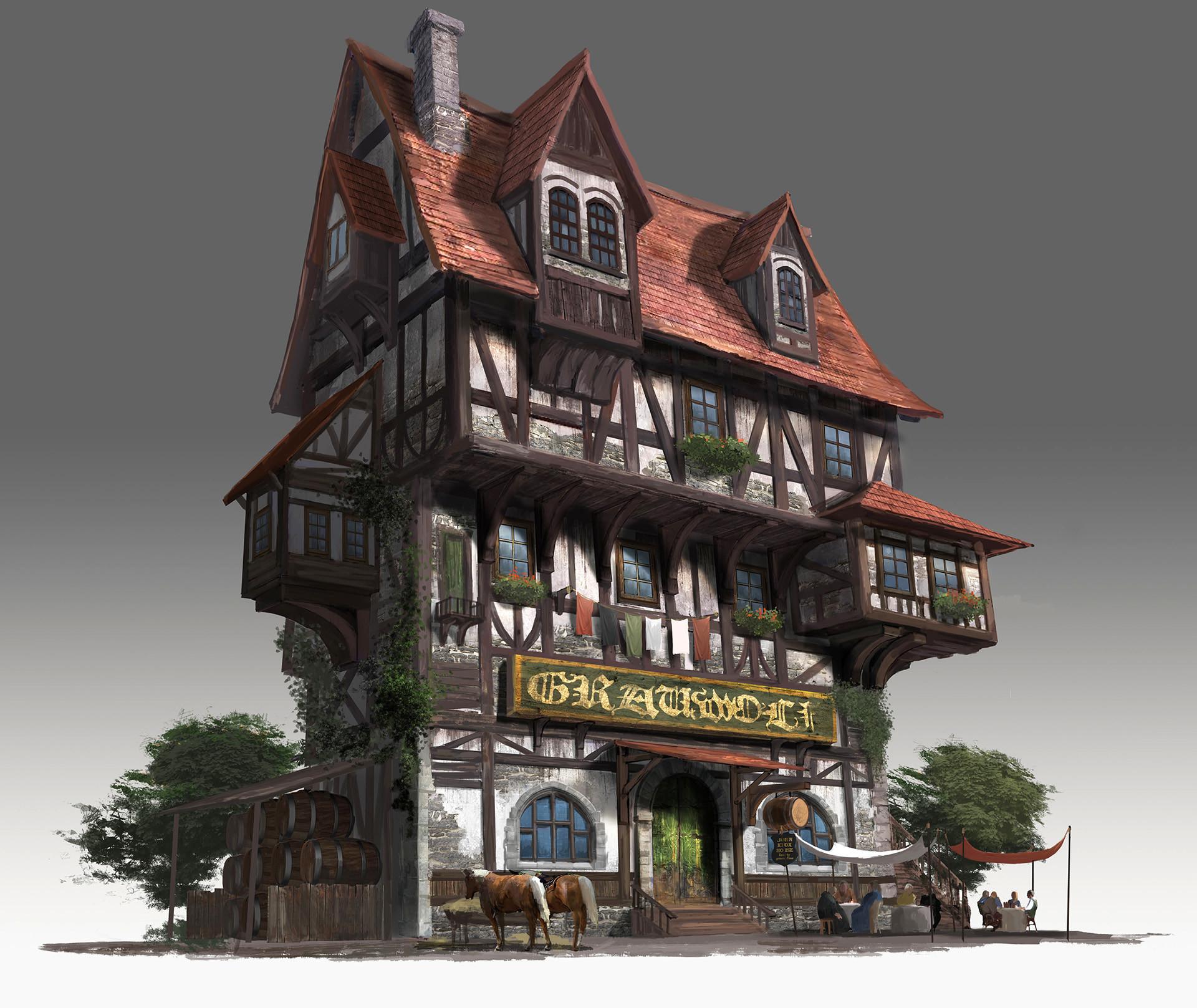 Artstation Medieval Pub House Jongmin Ahn