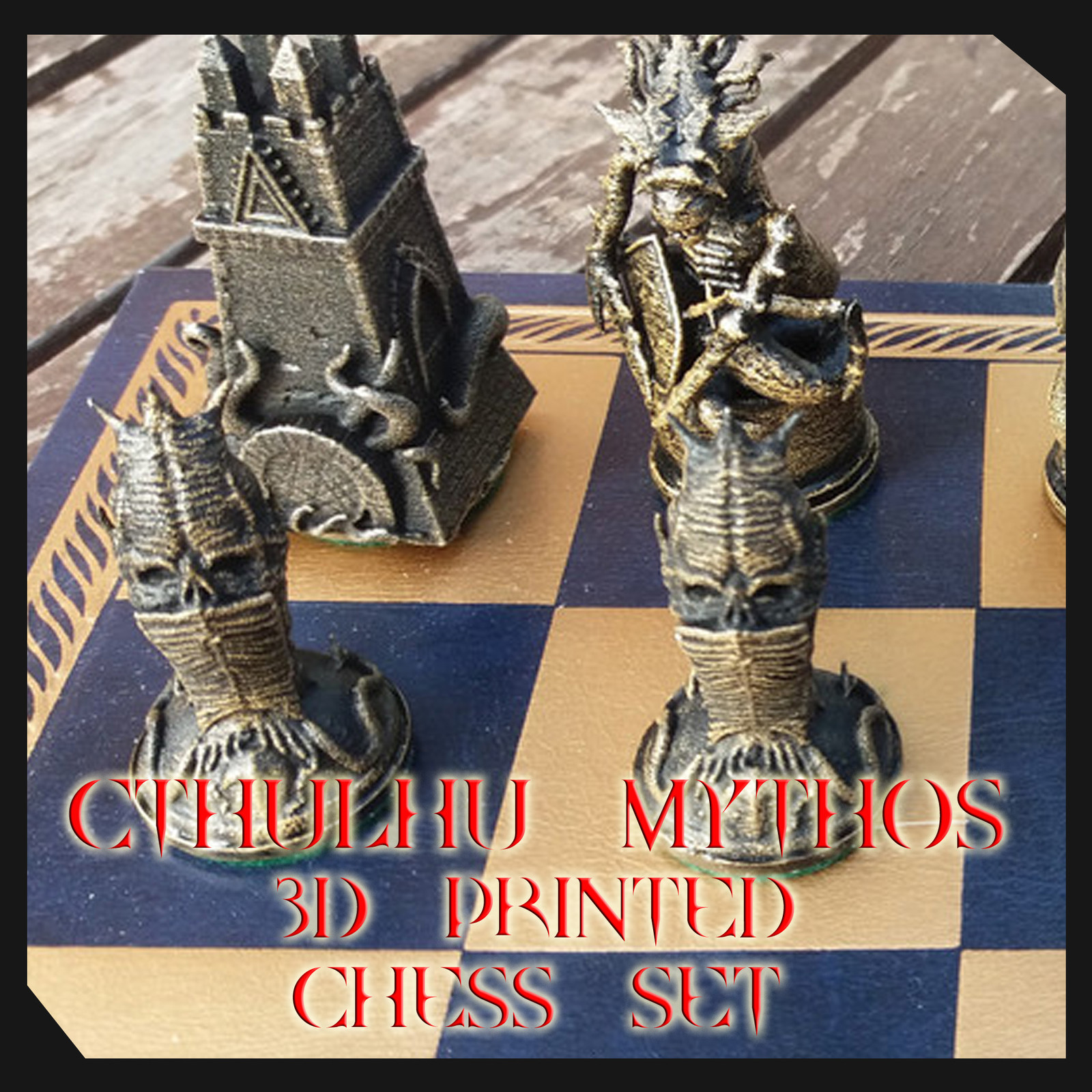 Cthulhu Chess Set 3D Printed and ready to order