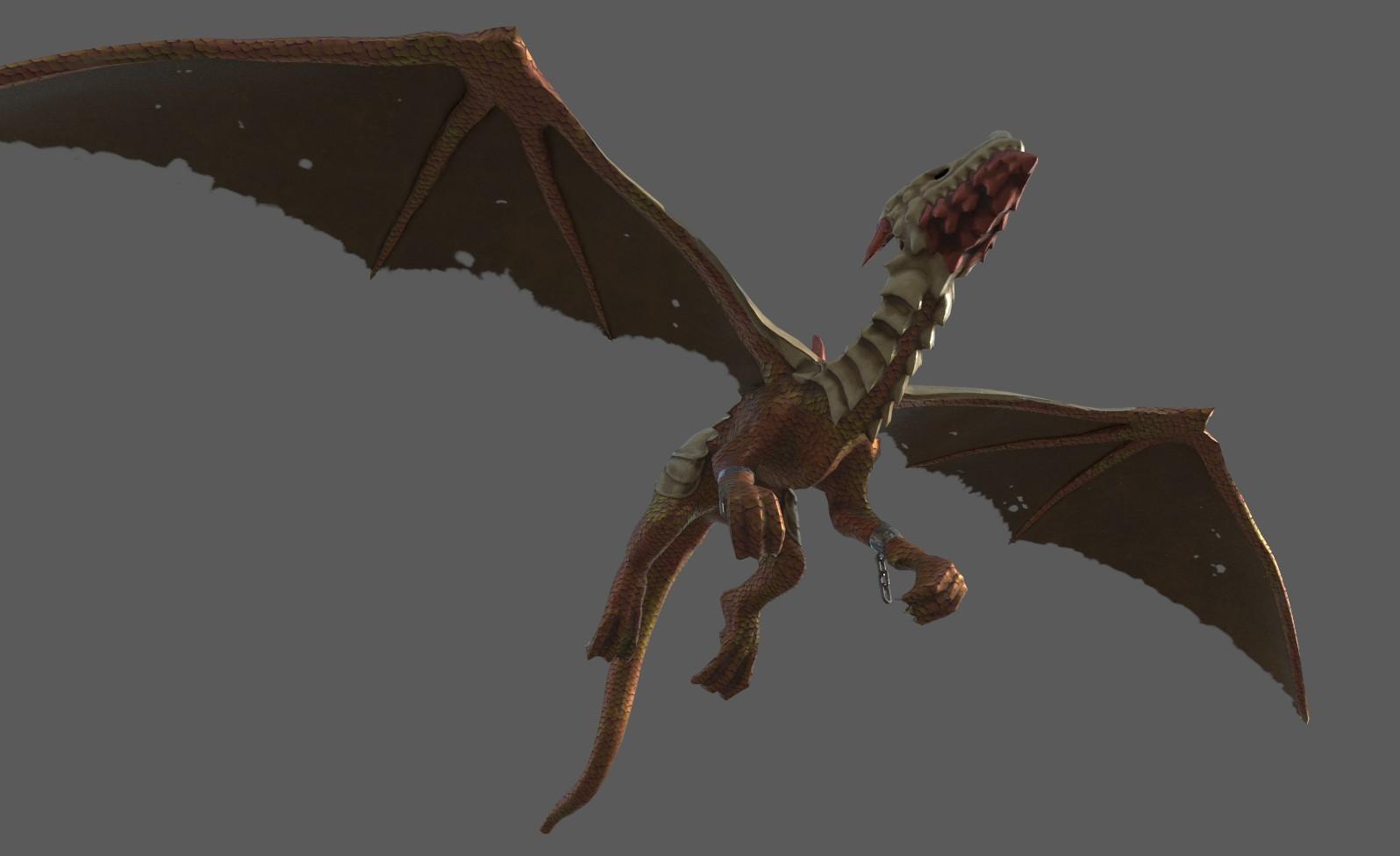 ArtStation - dragon skyrim mod, tan tan