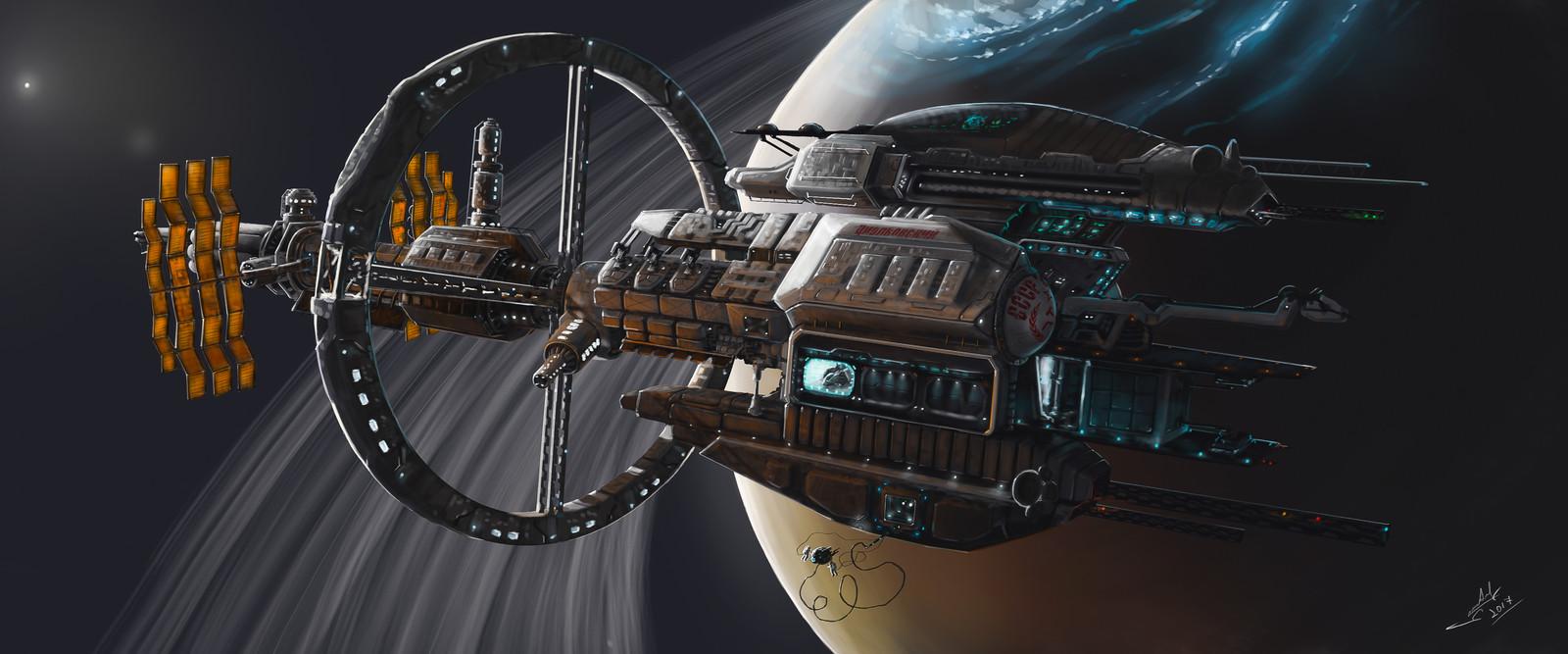 "Expedition deep spaceship ""Tsiolkovsky"""