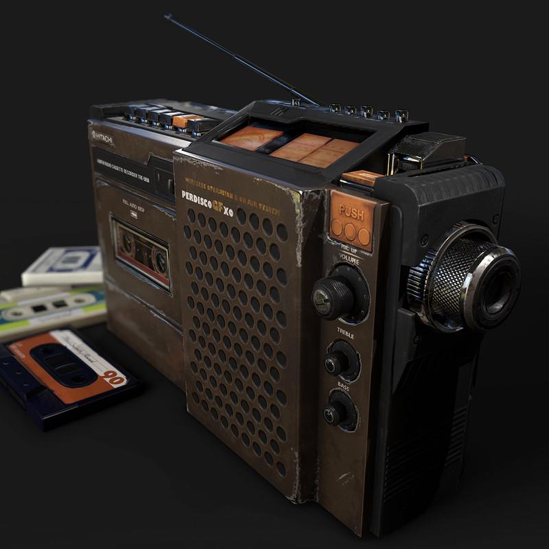 Hitachi Radio Cassette Player