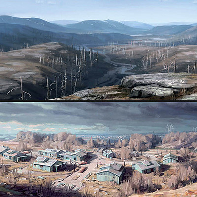 Ilya nazarov art of fallout 4 071 sanctuary hills concept ar thumb