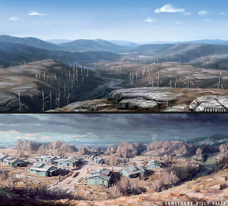 fallout 4 landscape art