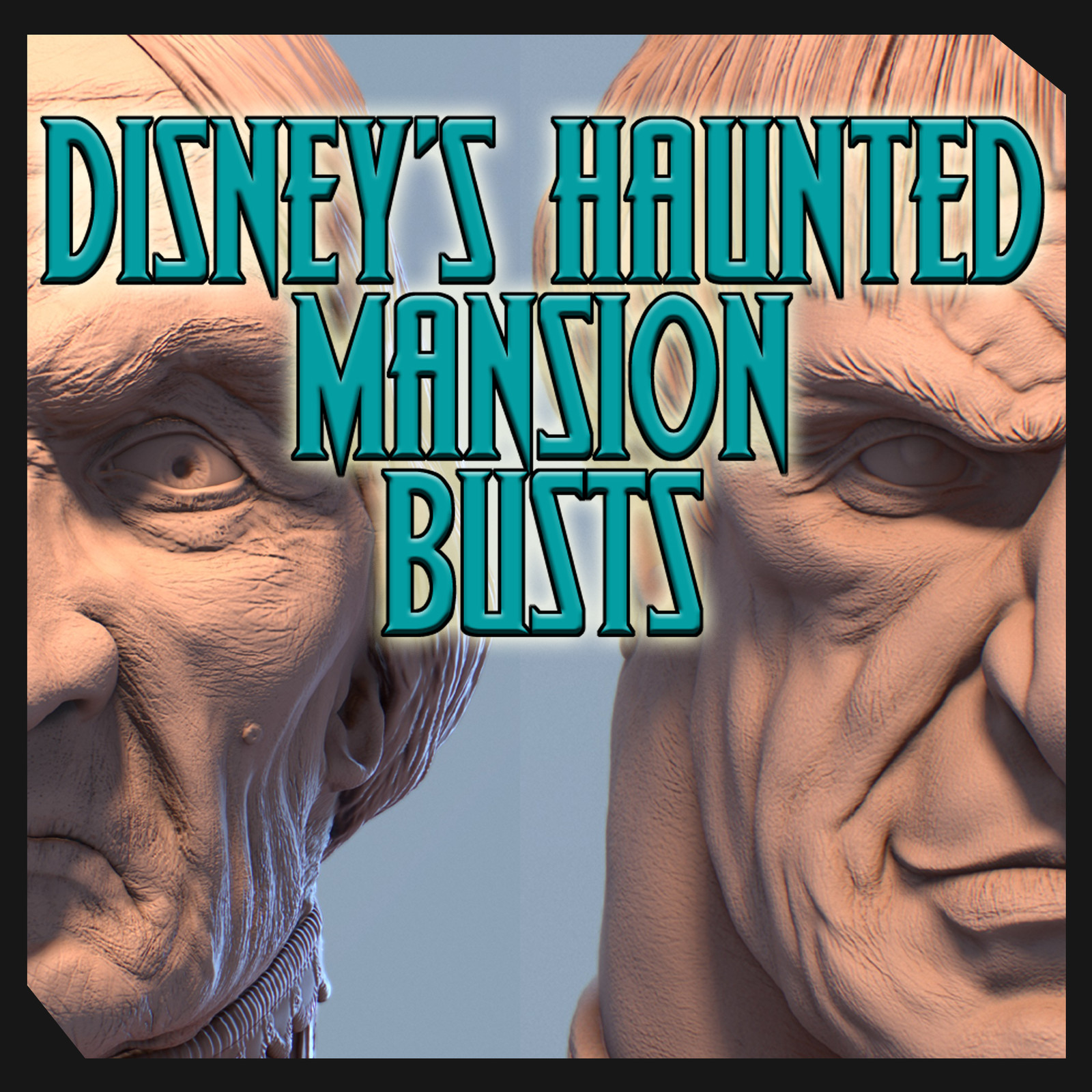 Disney's Haunted Mansion Busts Fan Art By Sergio Mengual