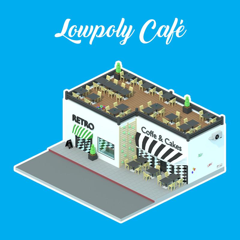 Lowpoly Café