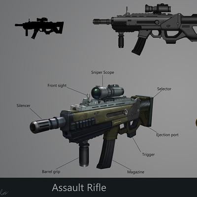 Suresh pydikondala assault rifle concept art