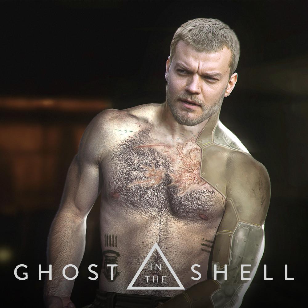 Artstation Ghost In The Shell Batou Jeremy Hanna