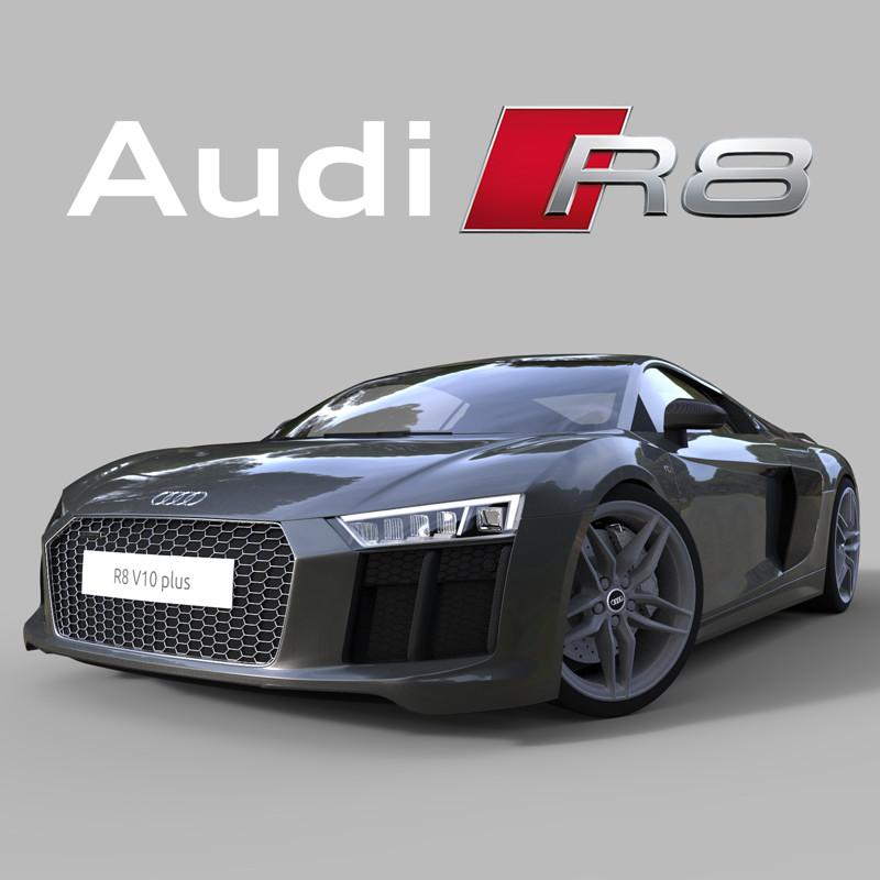 Artstation Audi R8 V10 Plus 2017 Guillaume Schlatter