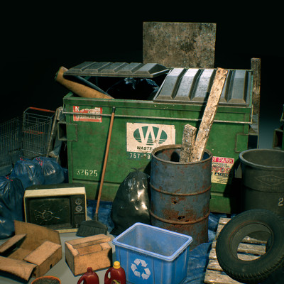 City Trash Prop Set