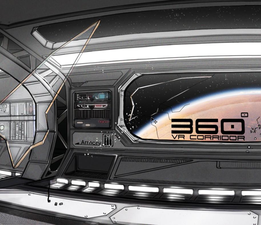 Sci Fi corridor concept