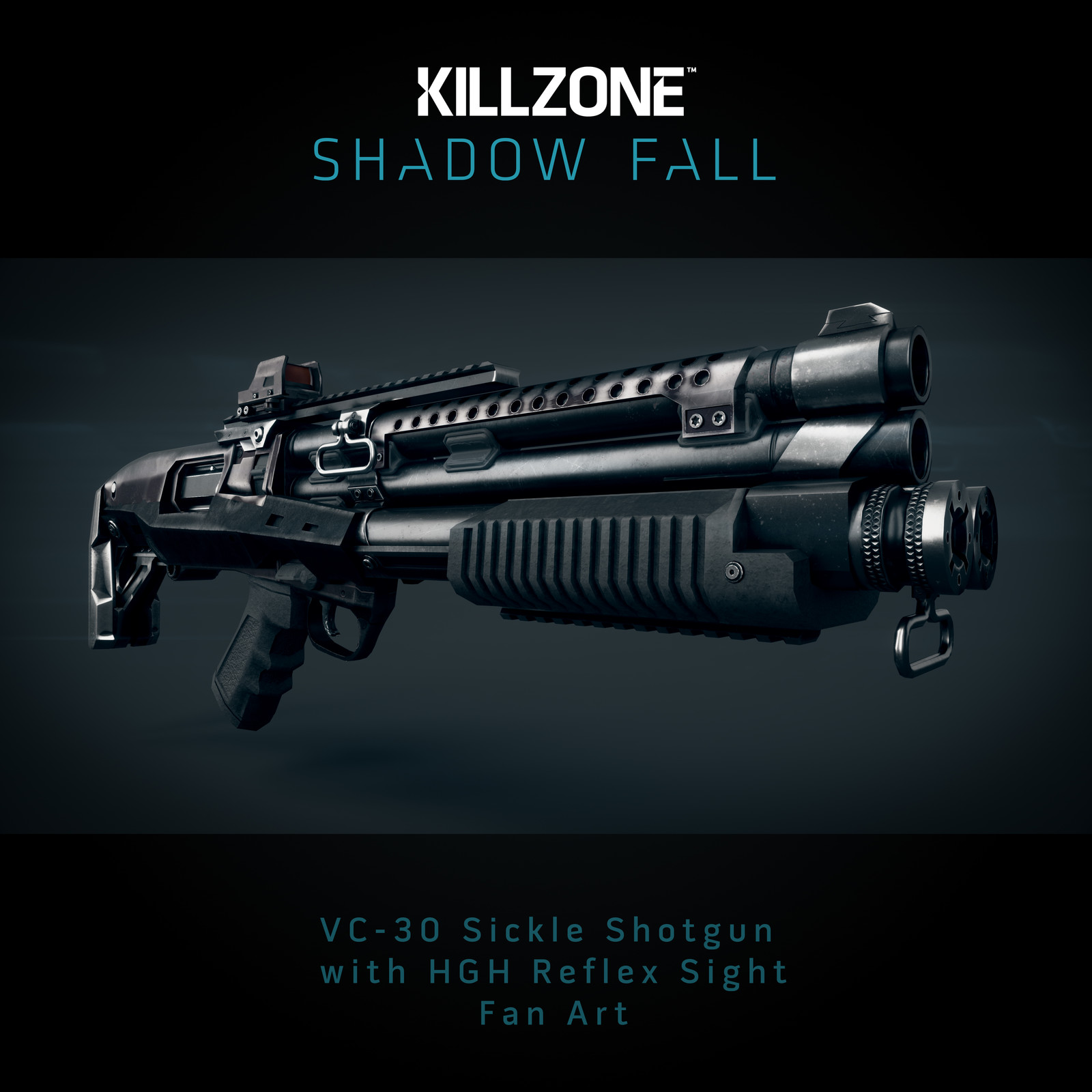 VC-30 Sickle Shotgun   //  Killzone Shadow Fall  -  Fan Art