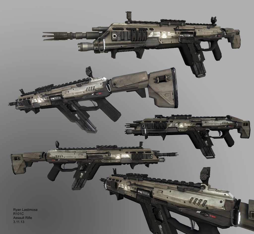 artstation titanfall 1 r101c assault rifle ryan lastimosa