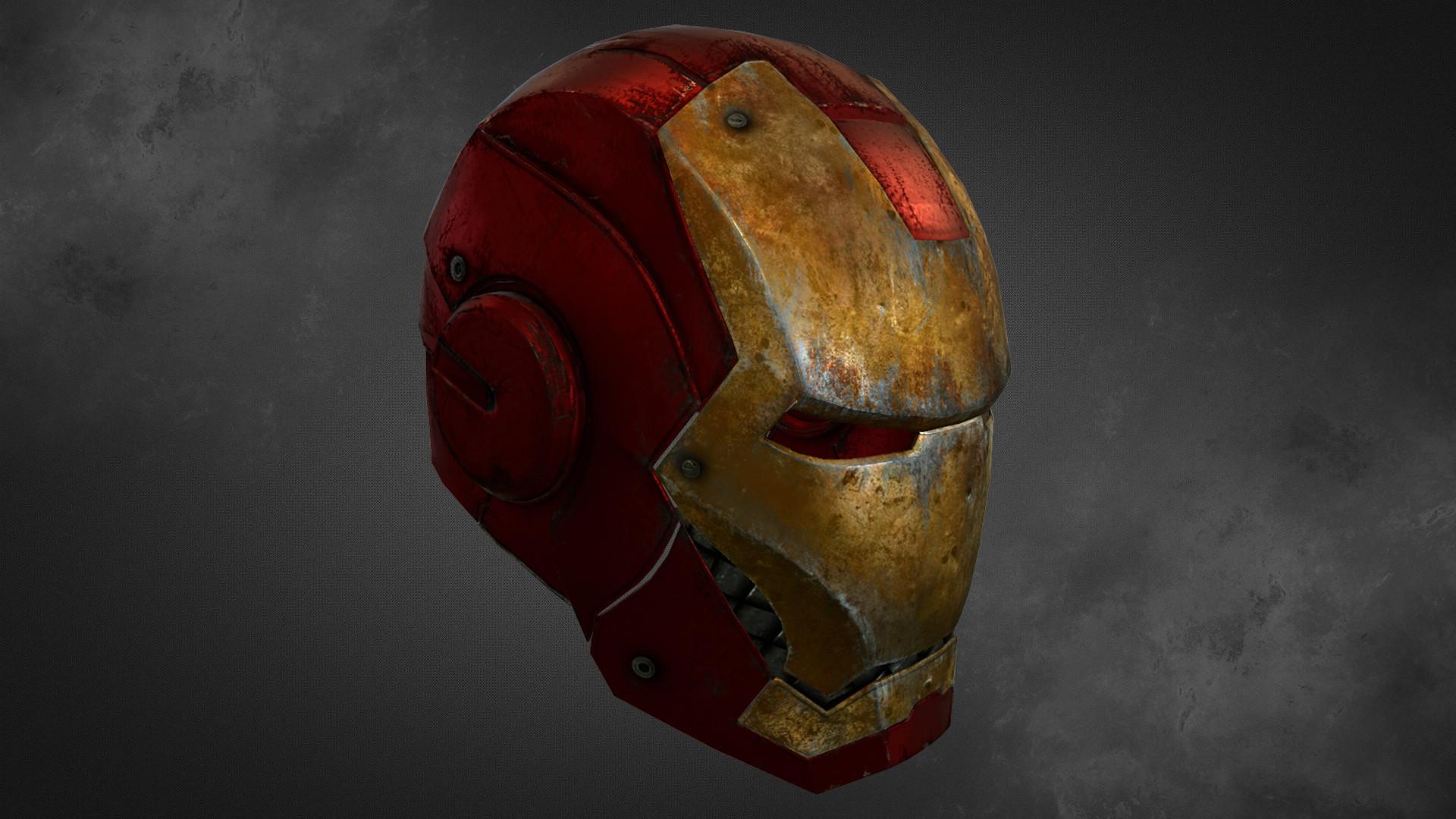 artstation - iron man helmet, prasun das