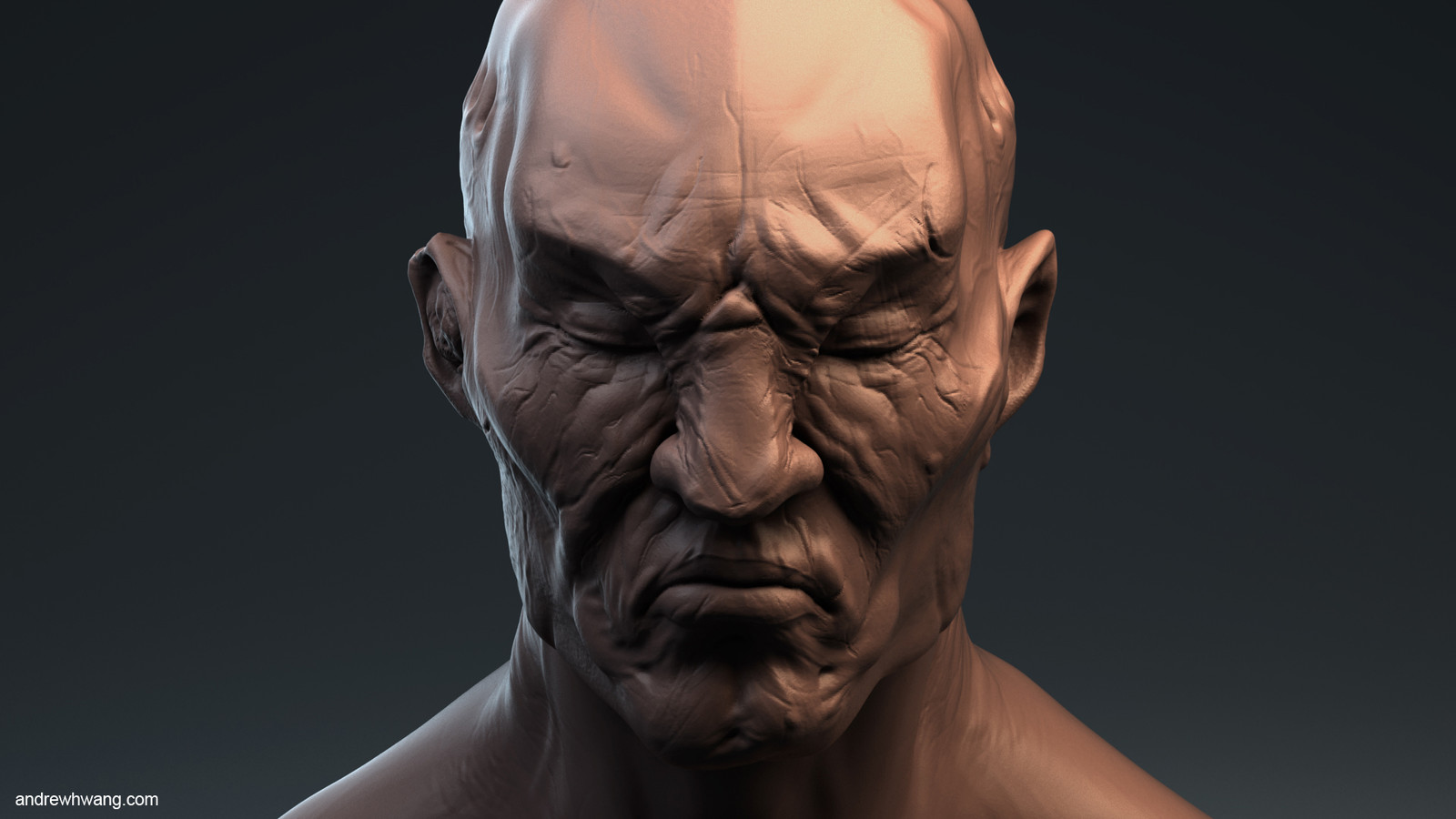 Orc Shogun Head Bust