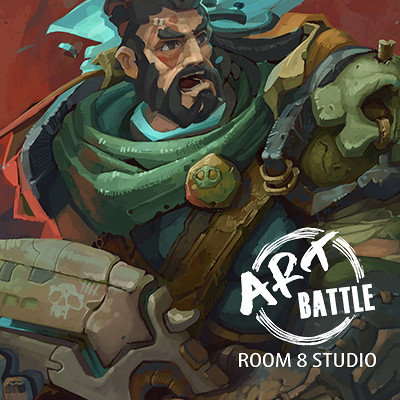Room 8 studio cover with logo