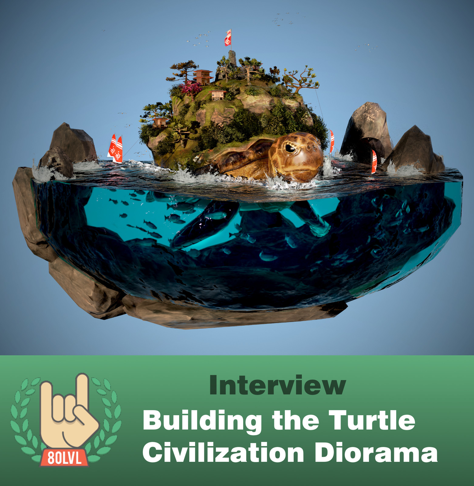 80 Level Interview: Building the Turtle Civilization Diorama