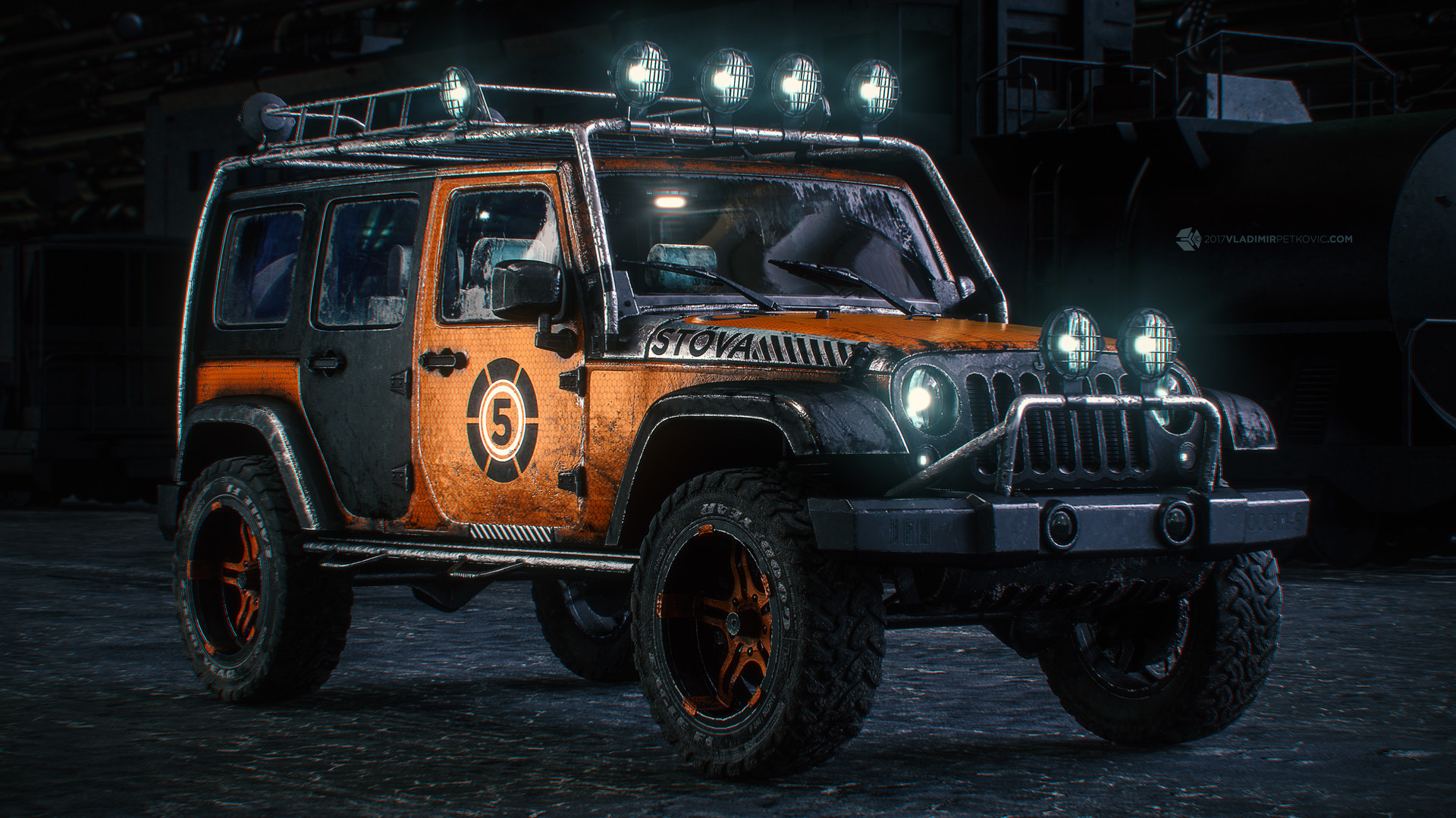 vladimir petkovic - jeep wrangler, custom paint job