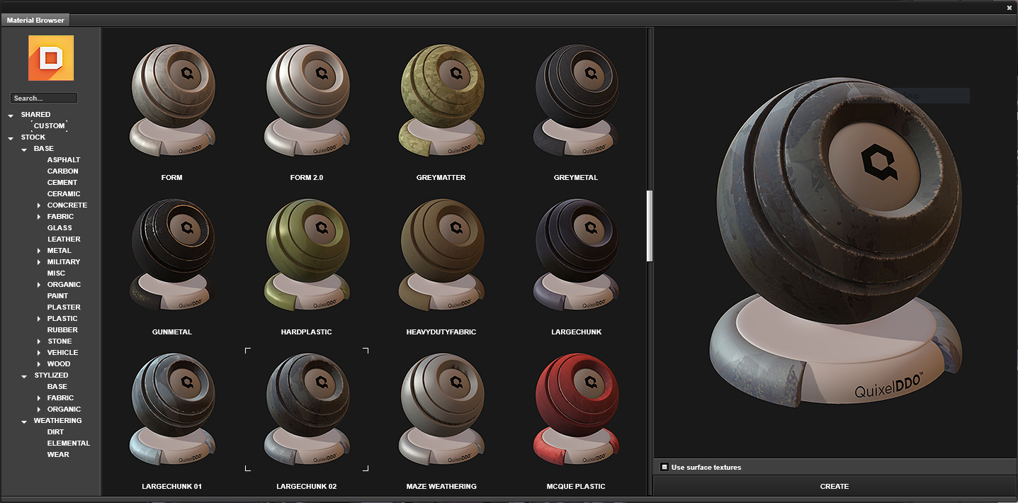 Hand Painted Texture Automation in Quixel's DDO.